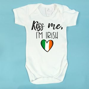 kiss me i'm irish baby vest