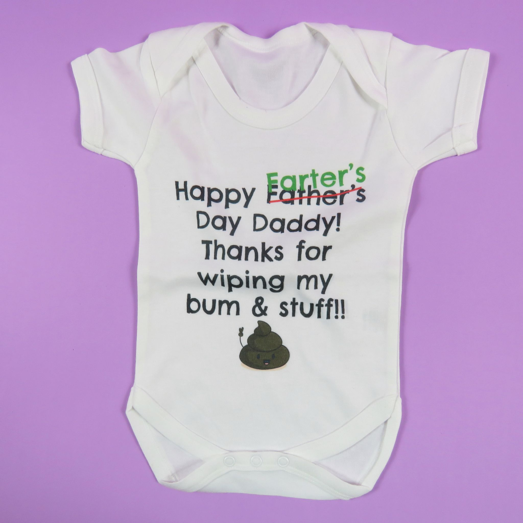 Worlds Best Farter Mean Father Thanks For Wiping Bum Dad Baby Vest Birthday Gift First