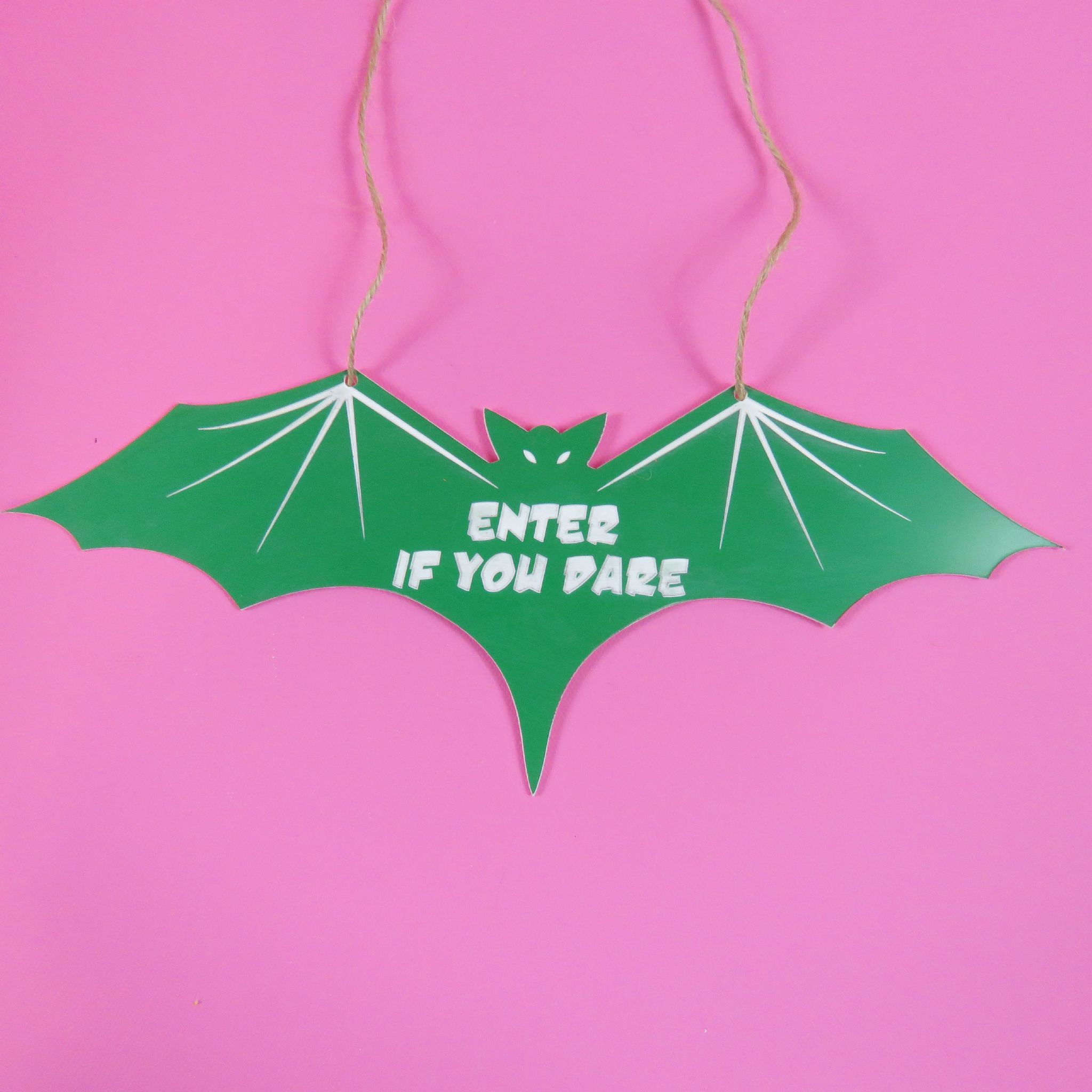 bat enter if you dare decoration acrylic halloween decorations