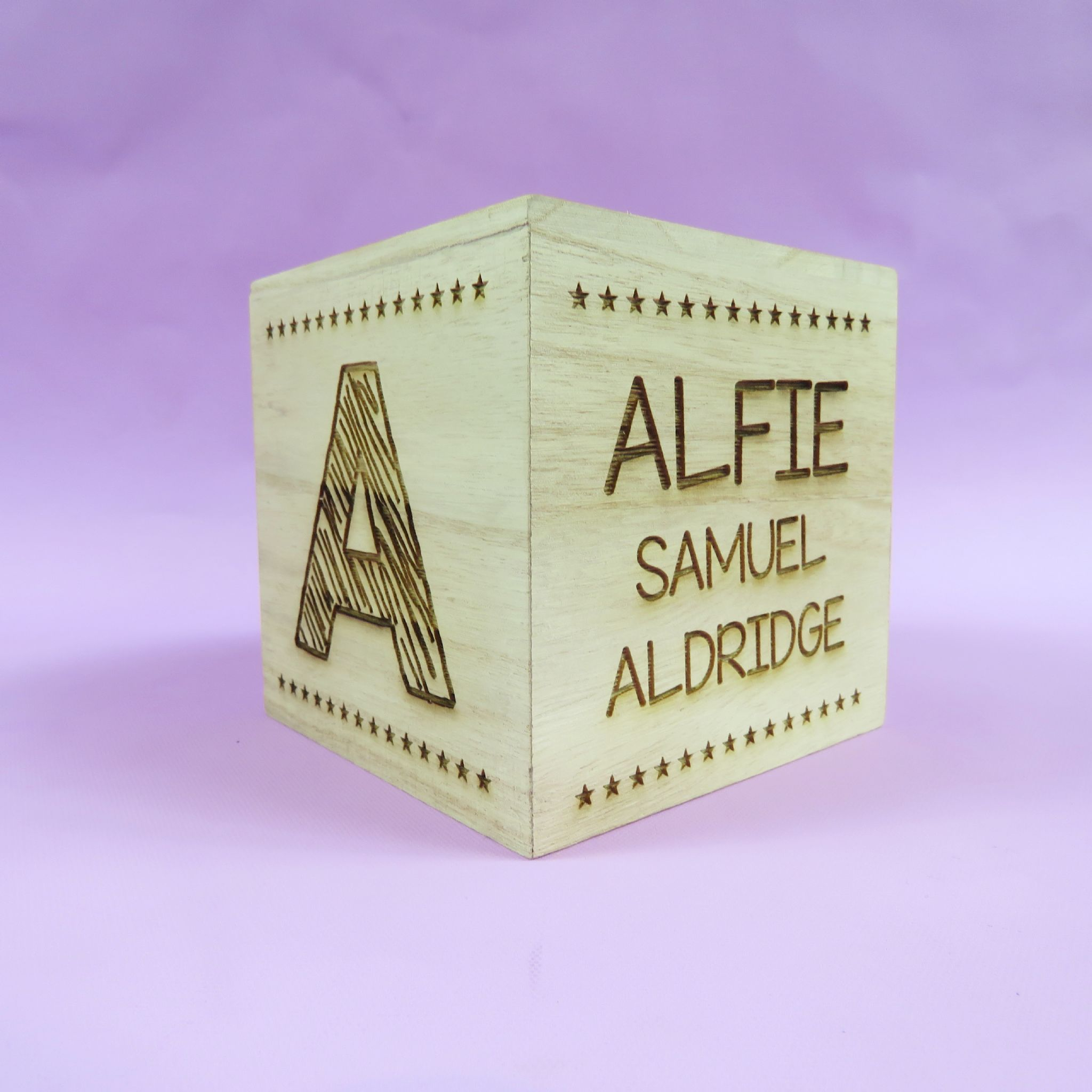 Beautiful engraved newborn baby gift wooden money box birth details personalised christening gift