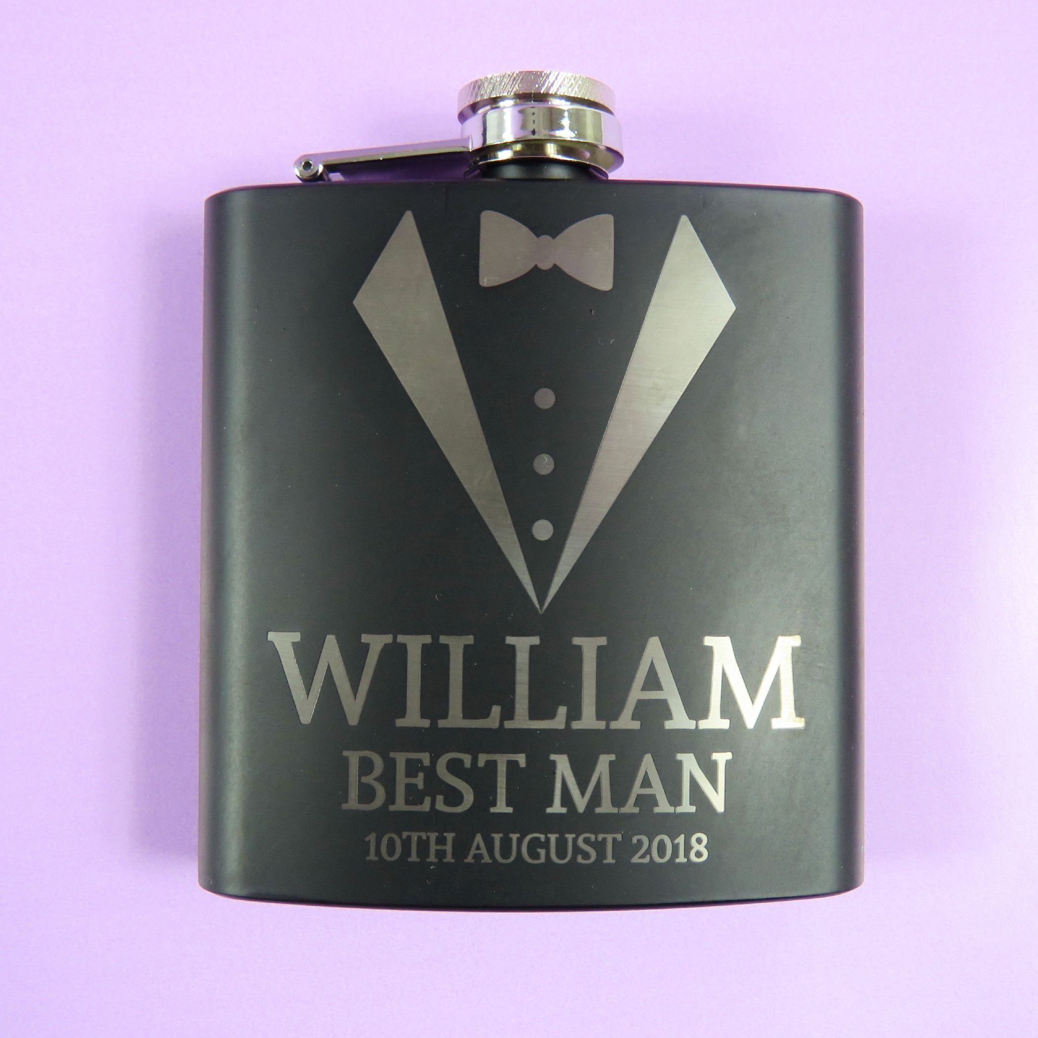 Wedding Gifts Best Man: Best Man Personalised Engraved Hip Flask Wedding Thank You