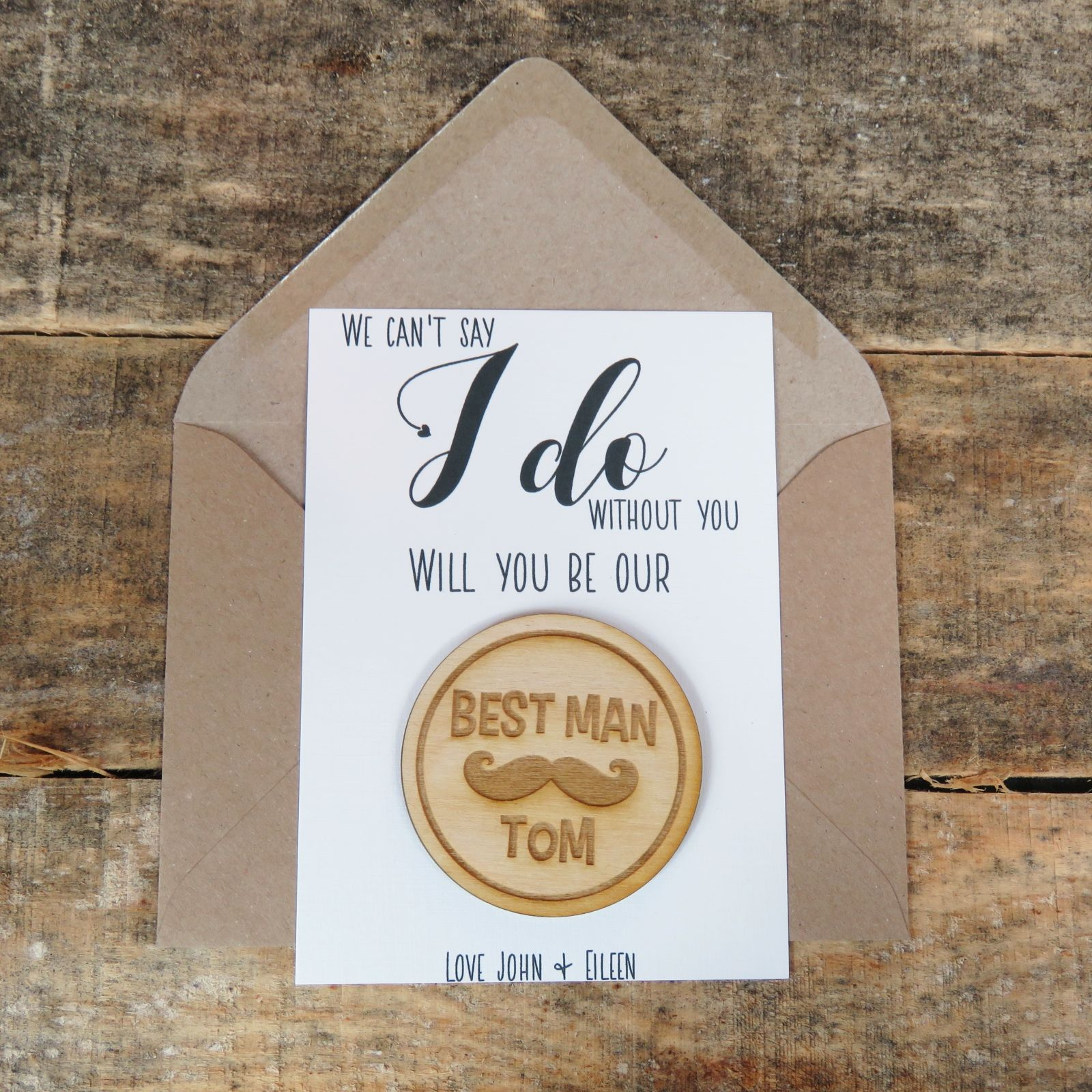 6d8b98af25e00 Best Man Proposal | Be Our BestMan | Wooden Badge | Best Man Gift | Wedding  Gift