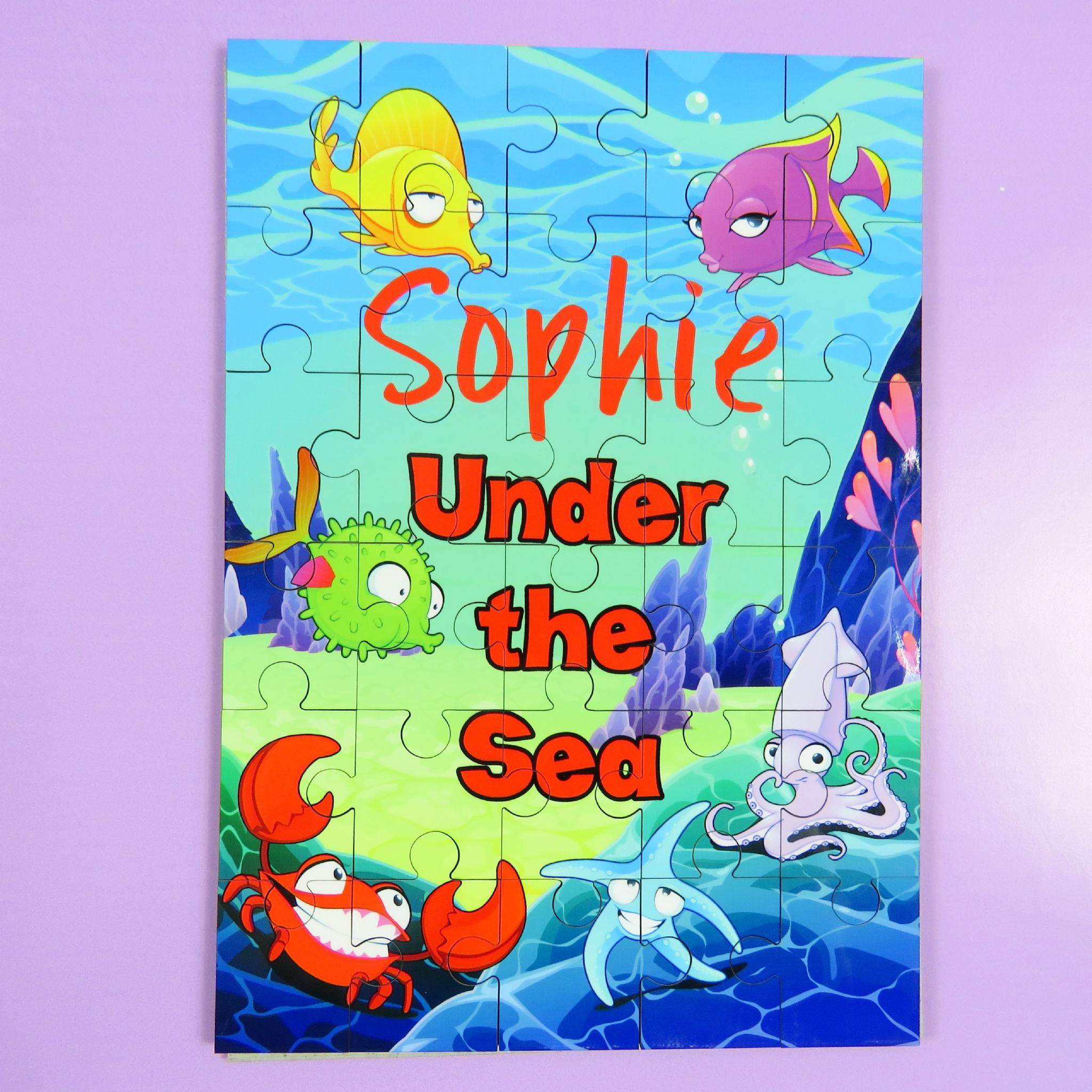 Childrens Personalised Under The Sea Jigsaw Puzzle