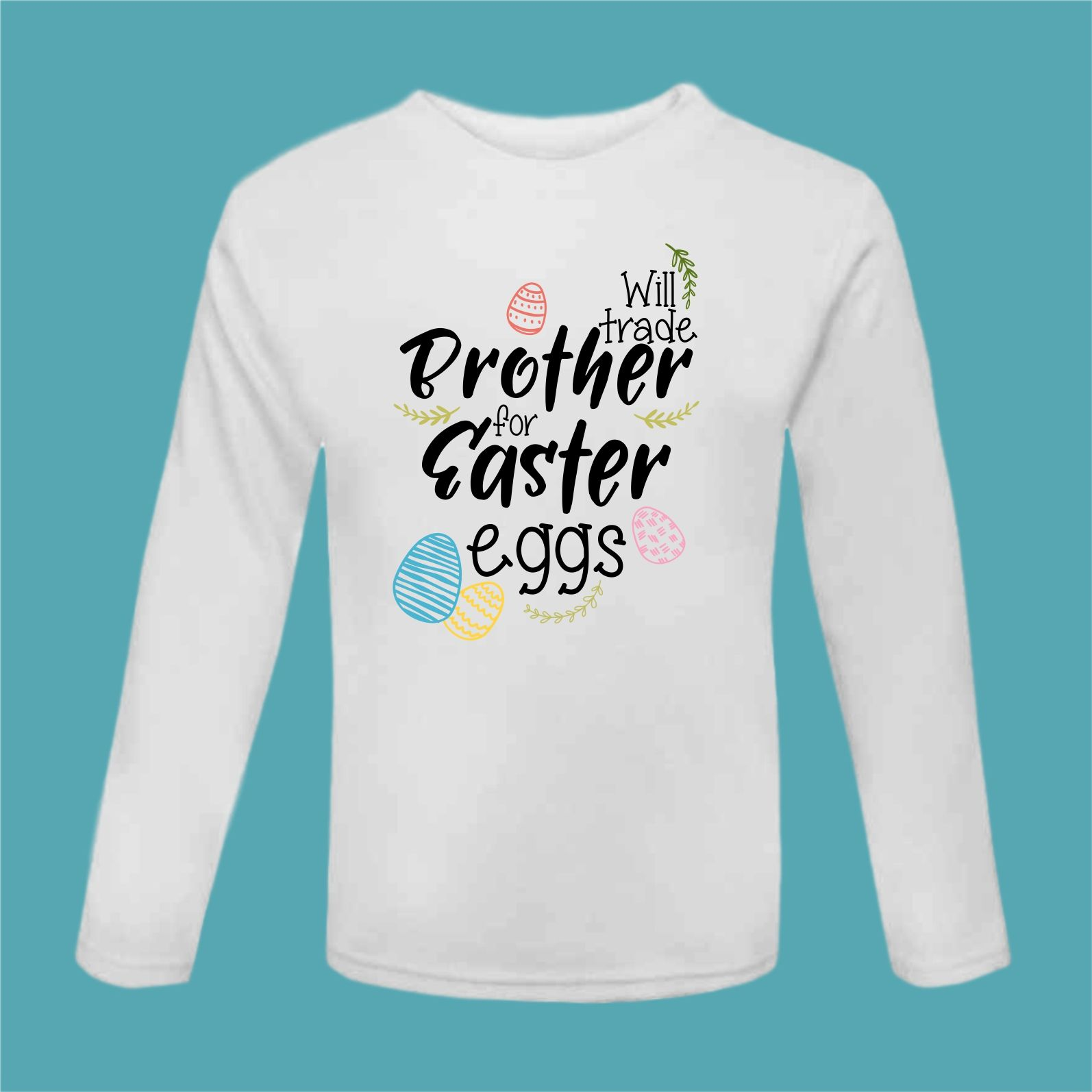 b26ddaeb Easter Tshirt Funny Easter Tee Trade Brother for Eggs Funny Chocolate