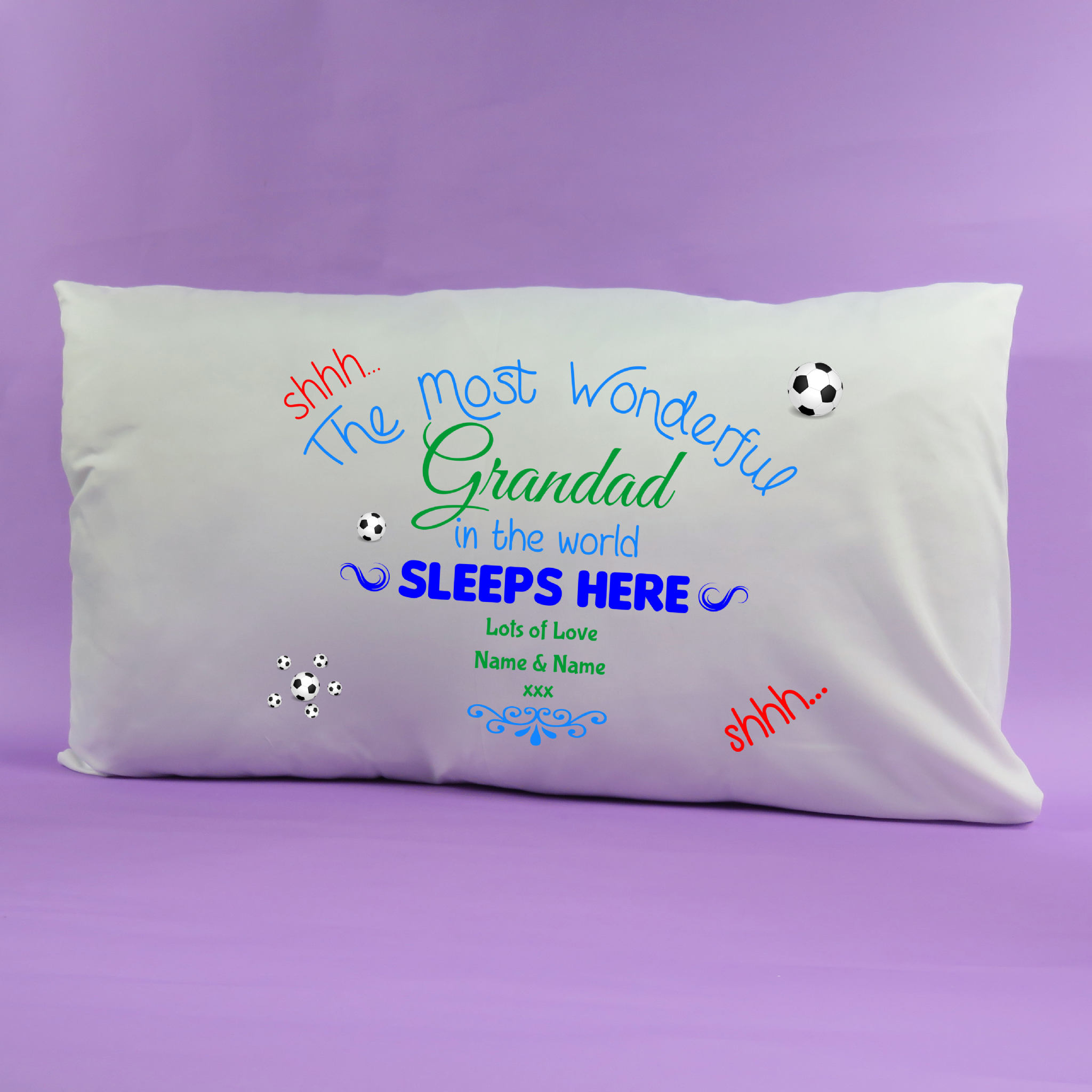 Fathers Day Gift from the kids Pillow case personalised fathers day gift Grandad Grandpa Pappy