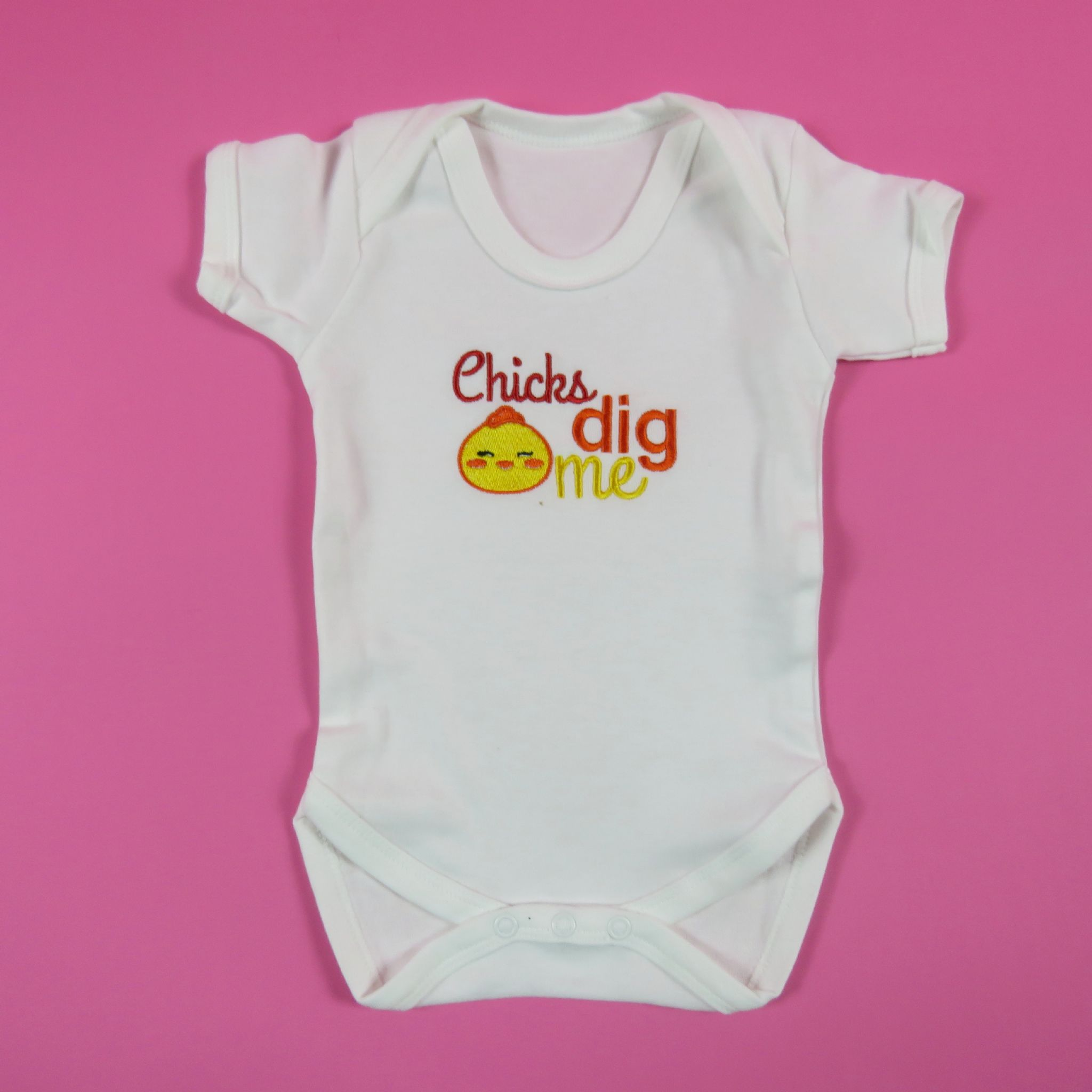 Chicks dig me easter baby vest easter chick embroidered vest chicks dig me easter baby vest easter chick embroidered vest easter sleep suit 1st easter gift negle Gallery