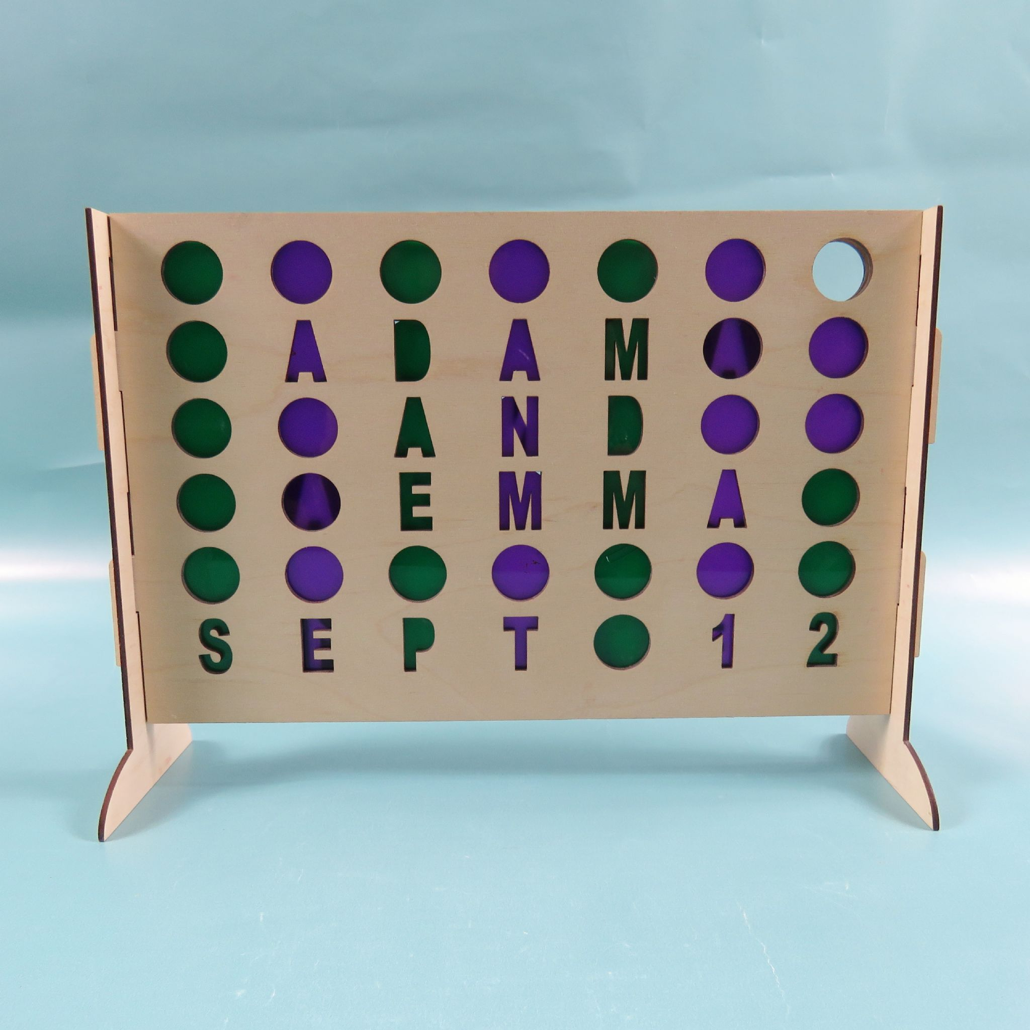 Personalised Table Top Game With Counters Newly Wed Gift Anniversary Present Wooden Gift Old School