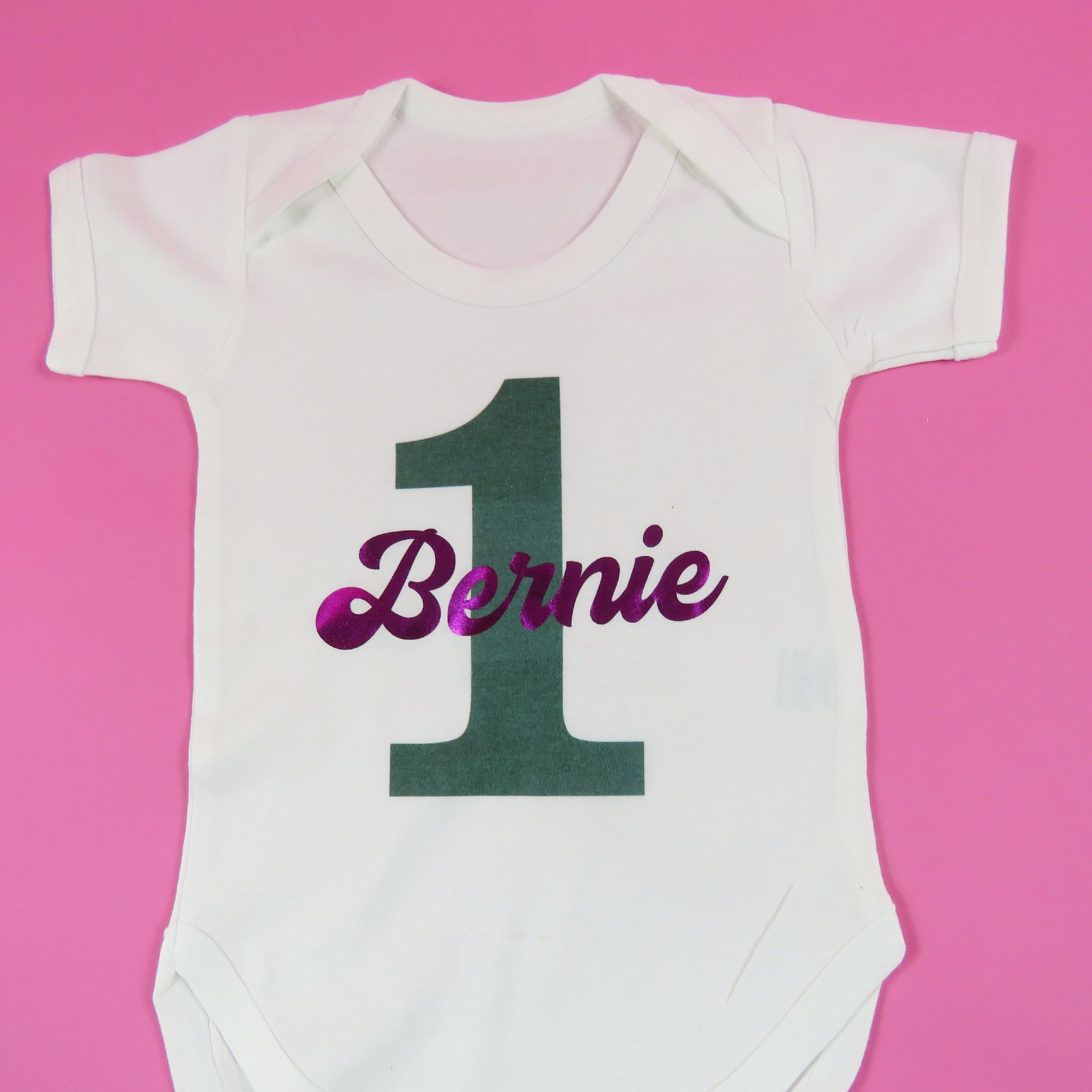 Personalised 1st Birthday Babyvest First Bday Unique Gift Cake Smash Outfit