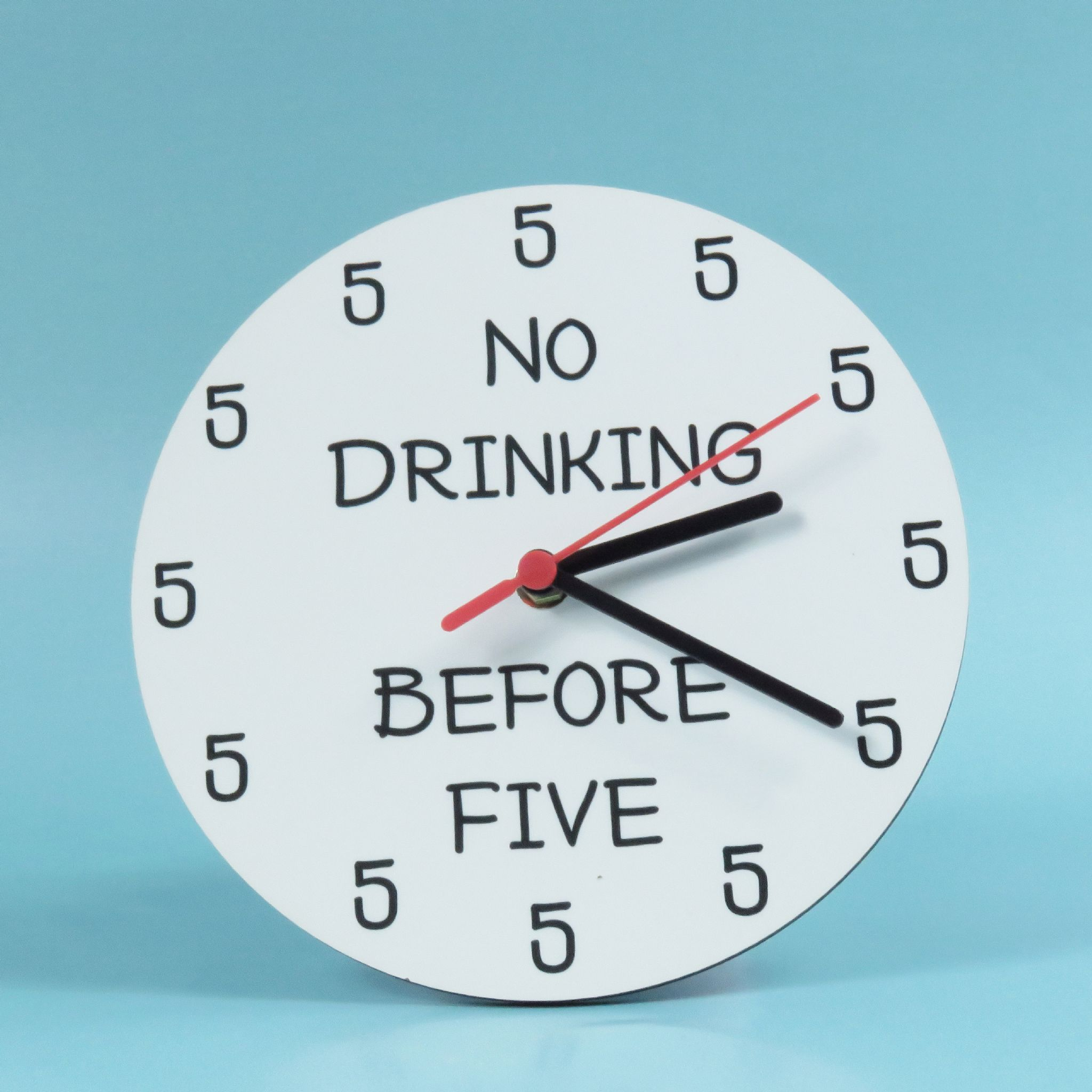 No Drinking Clock Before 5 Funny Alcohol Birthday Gift Beer It S