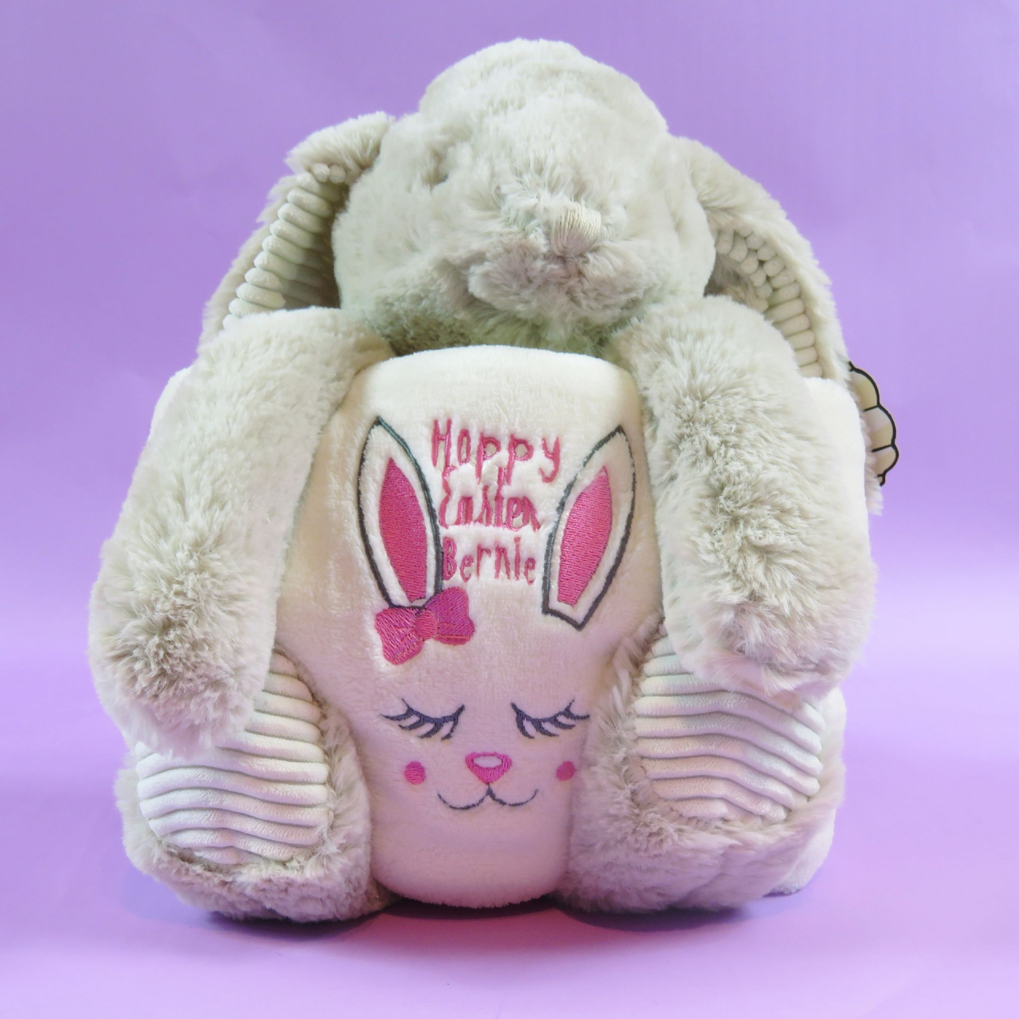 Personalised rabbit soft toy and blanket embroidered hoppy easter personalised rabbit soft toy and blanket embroidered hoppy easter easter gift new born baby gift negle Gallery