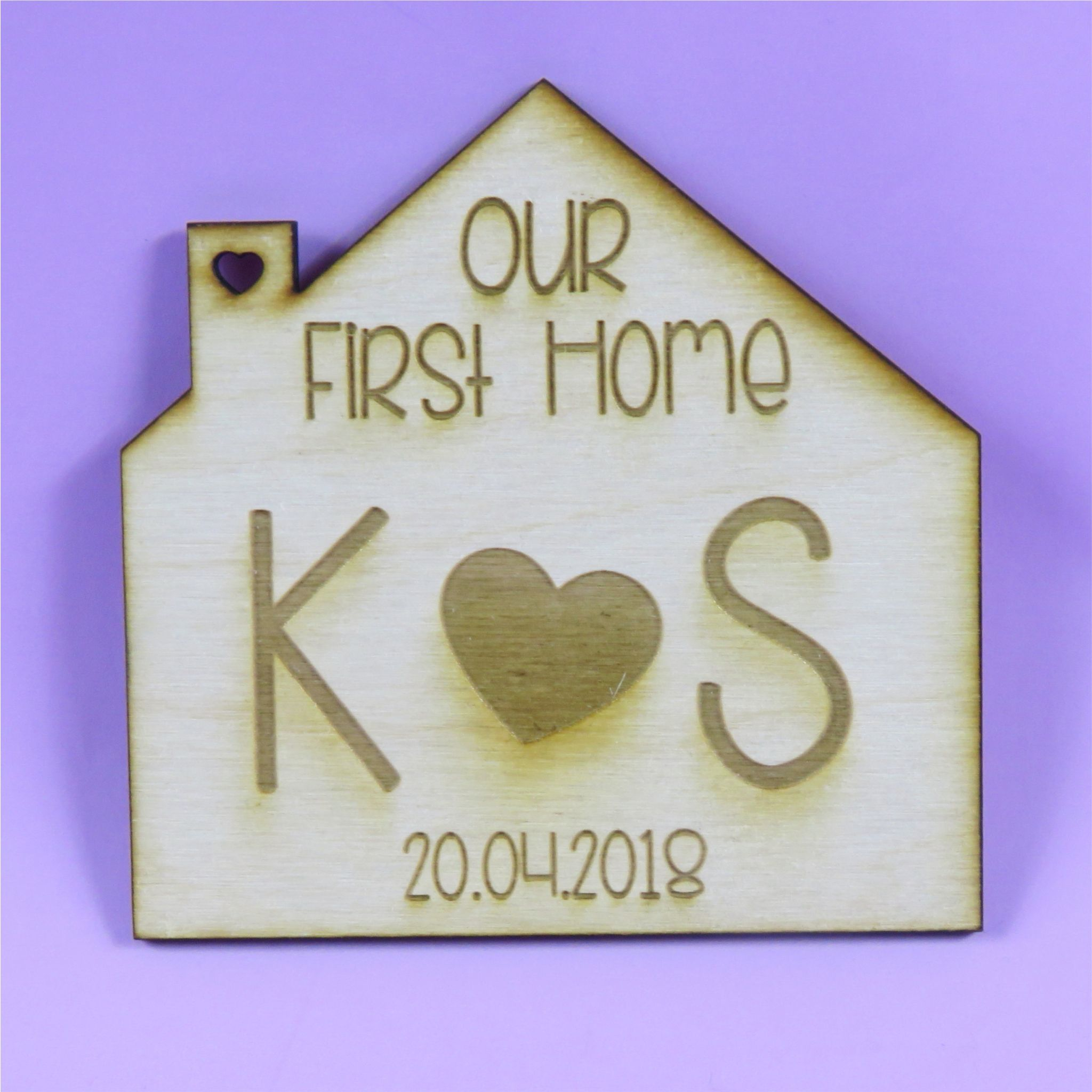First house Coaster Personalised first home gift wooden house coaster Housewarming present New Home
