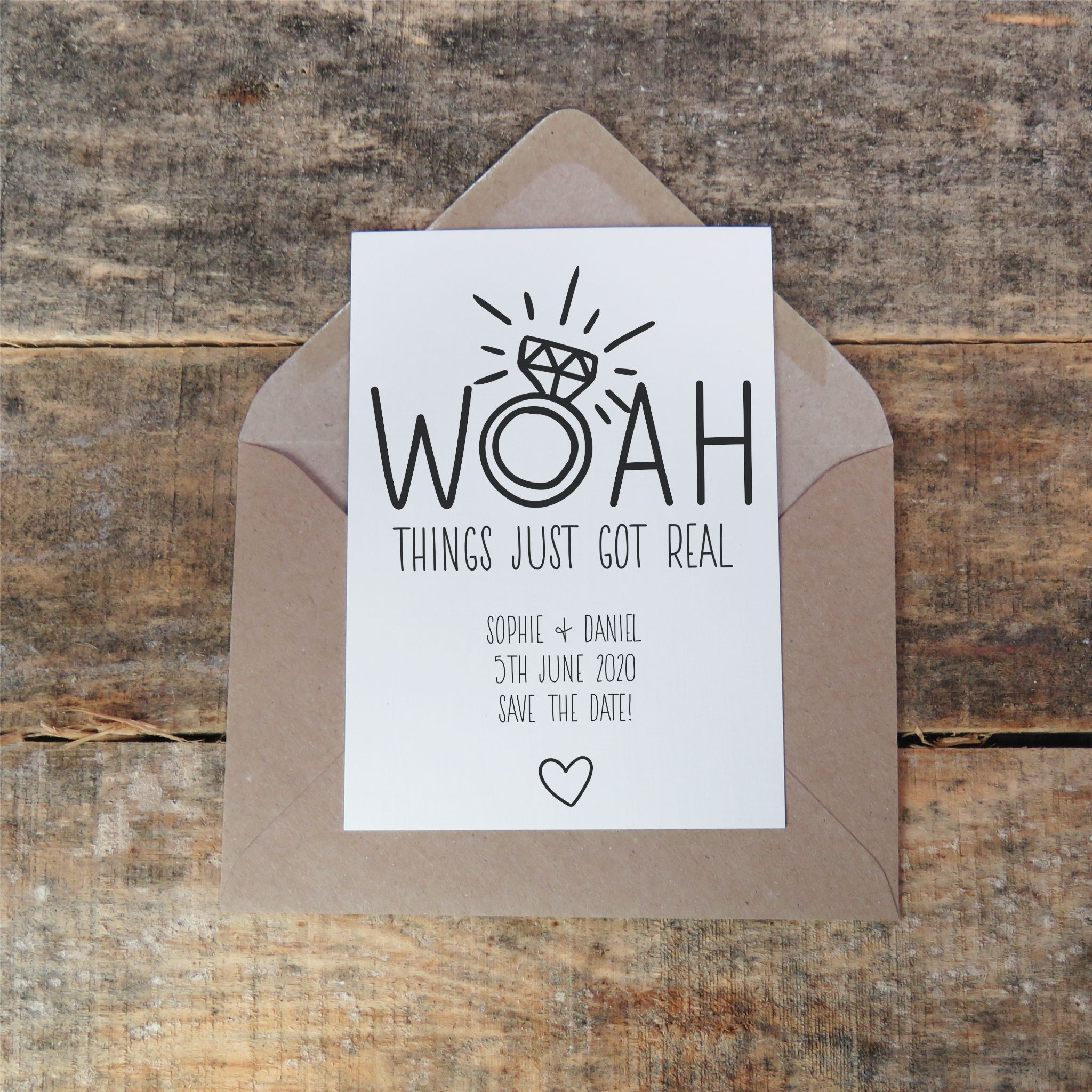 Personalised Funny Save The Dates Save The Date Cards Wedding Invitation Woah Save The Date