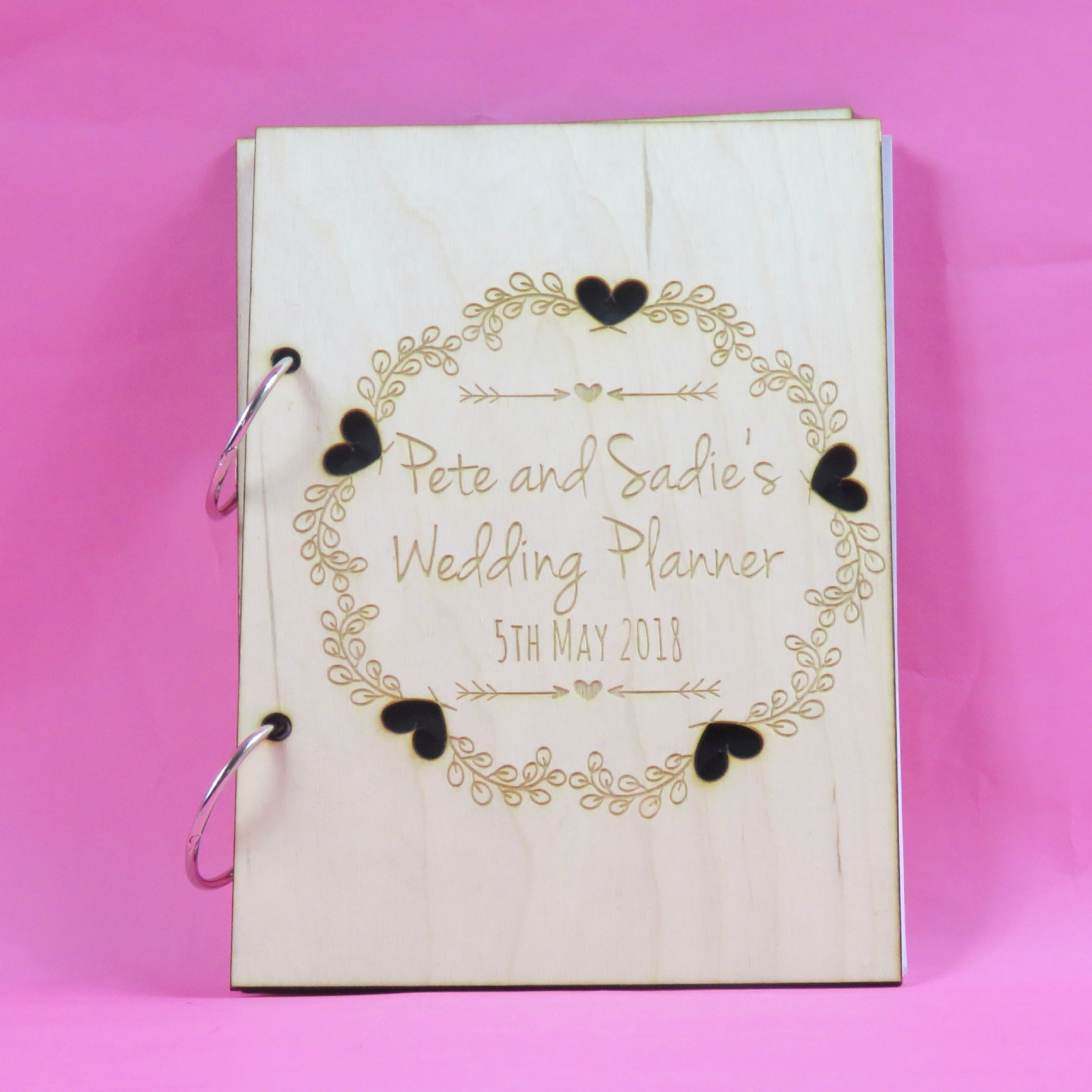 Personalised Heart Wedding Planner Book Mr and Mrs Mr and Mr Mrs and