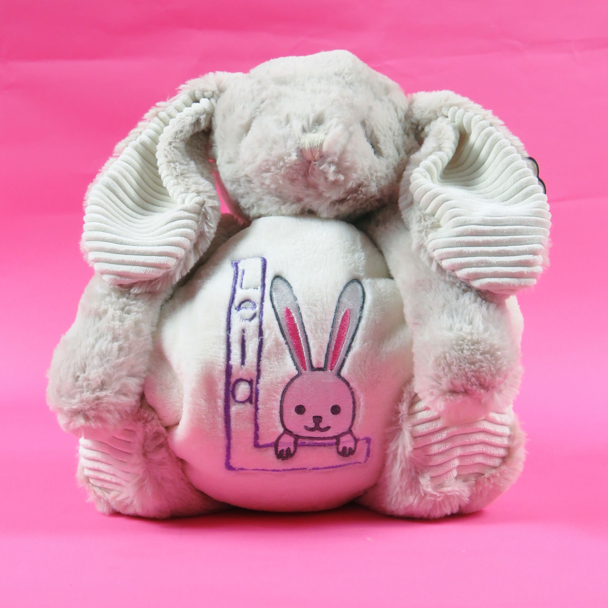 Personalised rabbit soft toy and blanket embroidered new born baby personalised rabbit soft toy and blanket embroidered new born baby gift bunny easter present persona negle Gallery