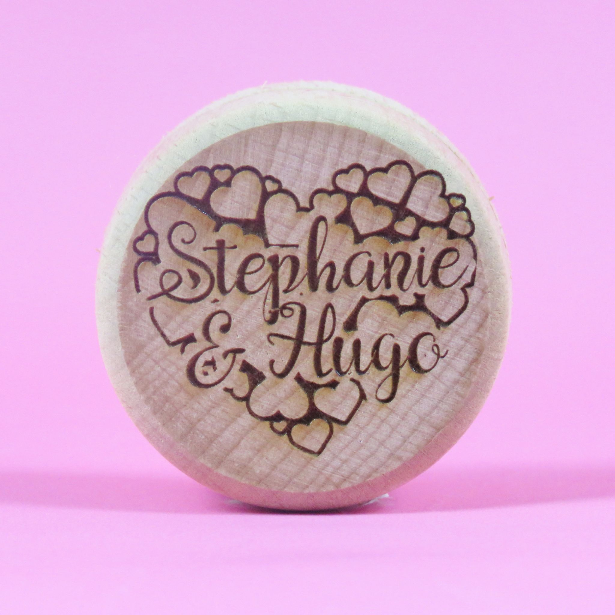 Personalised Wooden Heart bubble Ring Box Engagement Proposal ...