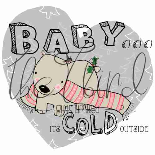 Polar Bear Christmas Decoration Christmas Present Baby It's cold Outside Noel Ornament Xmas