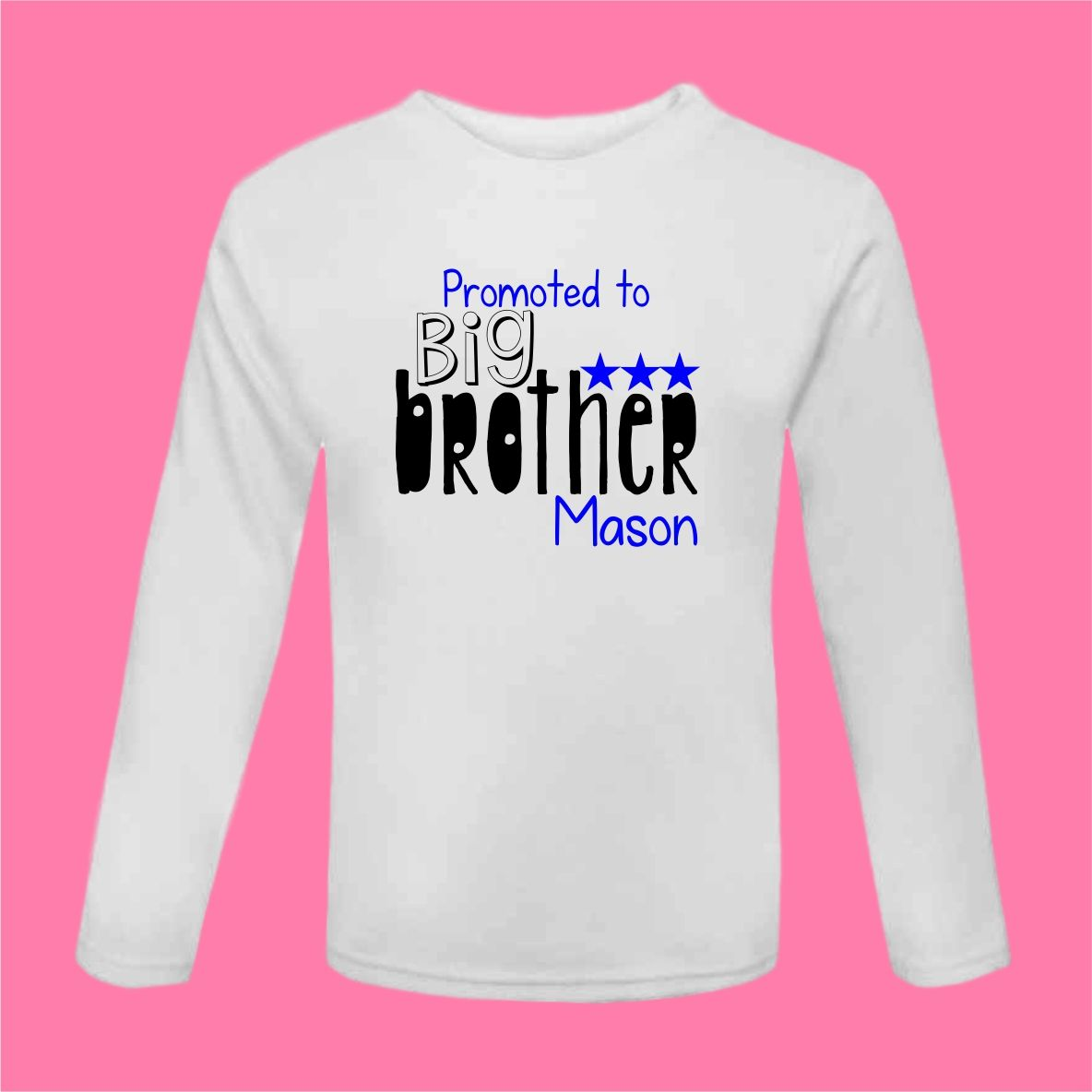 Promoted To Big Brother Tshirt Personalised Pregnancy