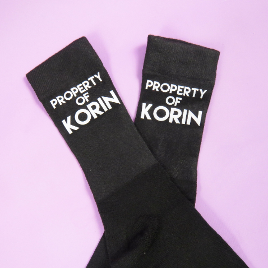 Property of Socks personalised socks christmas gift gift for him valentines gift Anniversary Present