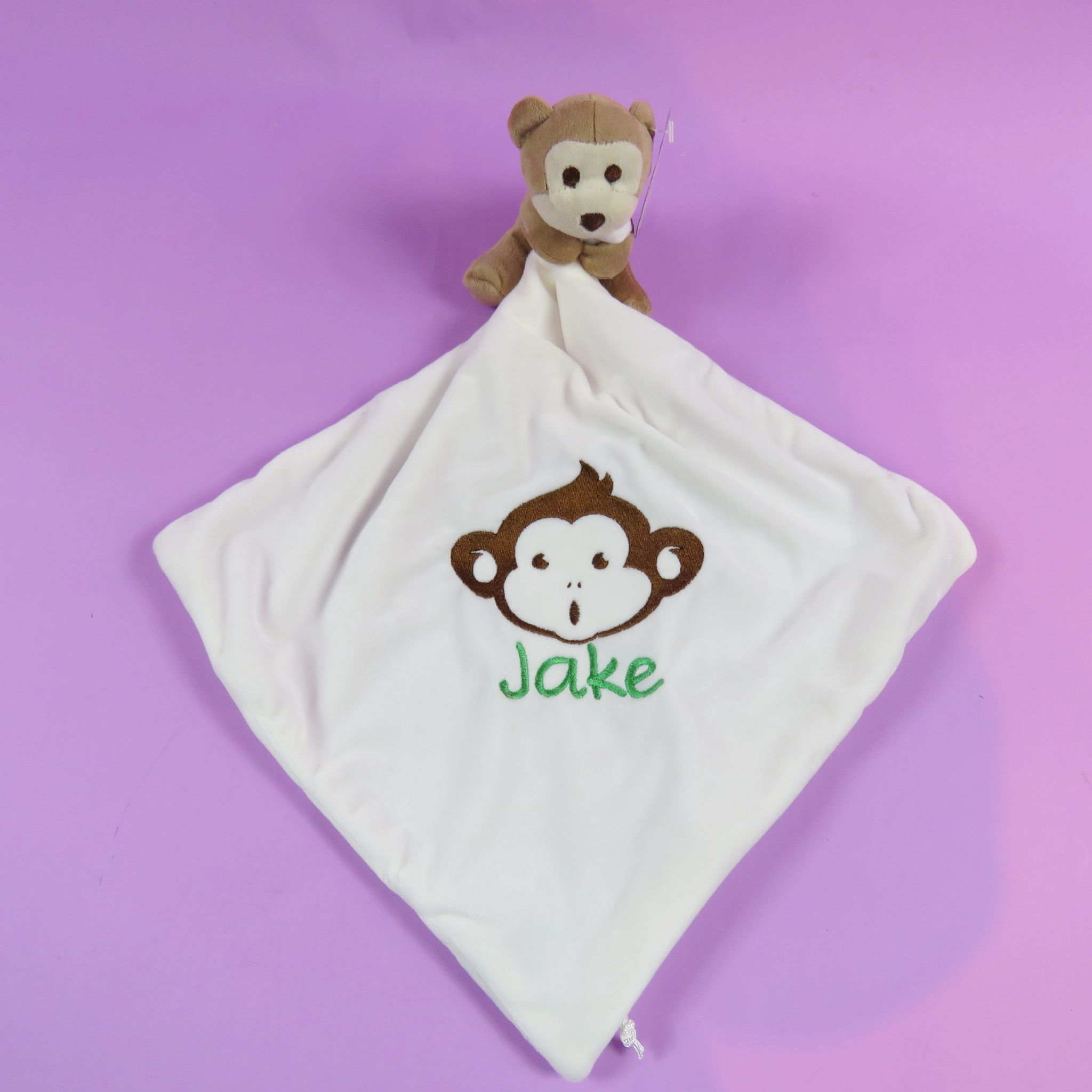 Newborn baby embroidered comforter name monkey personalised baby newborn baby embroidered comforter name monkey personalised baby shower gift newborn baby present negle Gallery