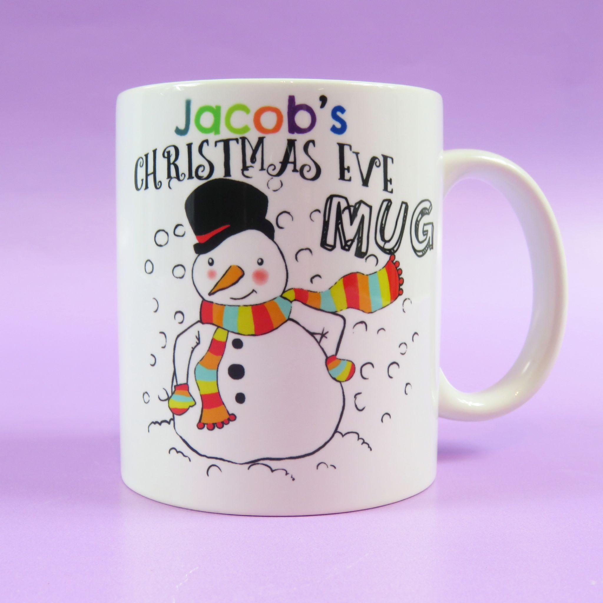 Snowman Christmas Eve Mug Christmas Eve Box Filler Personalised for ...