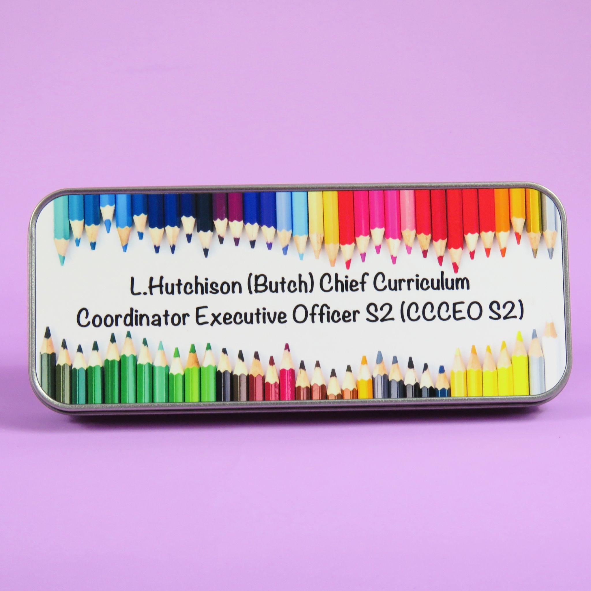 Teacher Pencil Case Colouring Pencils Personalised Teacher