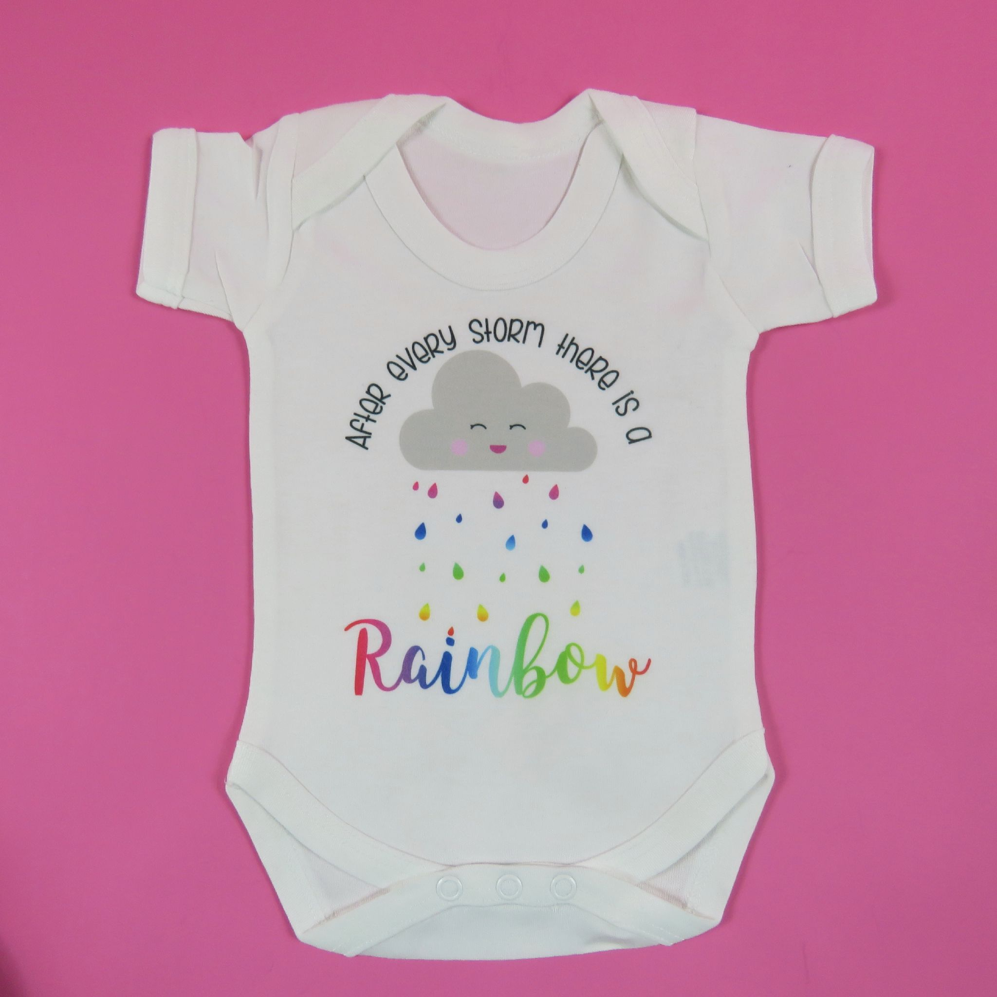 After Every Storm There Is A Rainbow Baby Vest Miracle Baby Newborn Baby  Baby Shower Gift Pregnancy