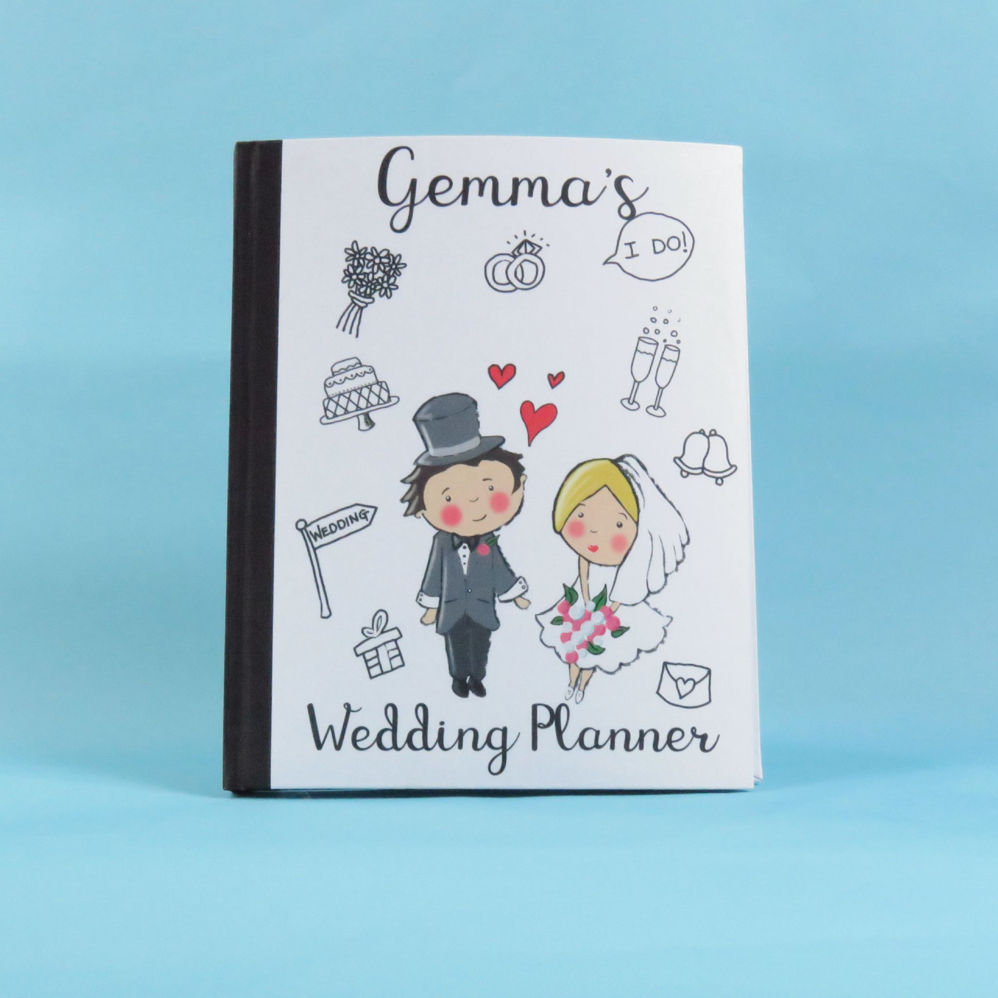 Wedding Planner Personalised Note Book Engagement Gift Wedding