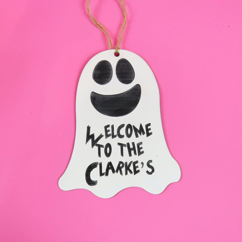 Welcome to the Ghost Decoration Acrylic Halloween Decorations Spooky Gift Halloween Gift Pumpkin