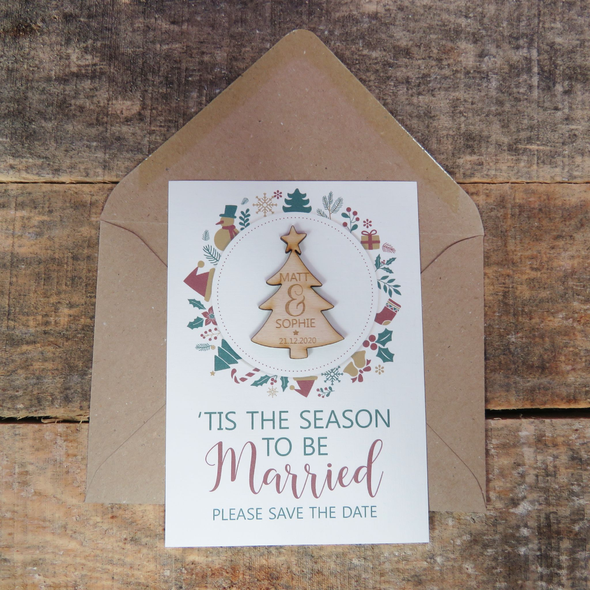 Christmas Save The Date Graphics.Wooden Christmas Save The Date Magnets Wooden Magnets Save The Dates Wedding Invitation