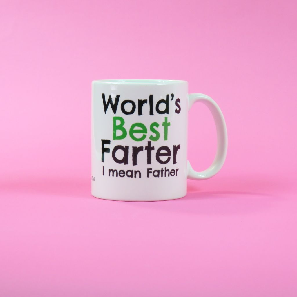 Worlds Best Farter Mean Father Fathers Day Gift Dad Mug Birthday Coffee